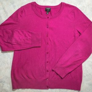 Talbots PIMA COTTON Blend Pink L/S Button-Up Top
